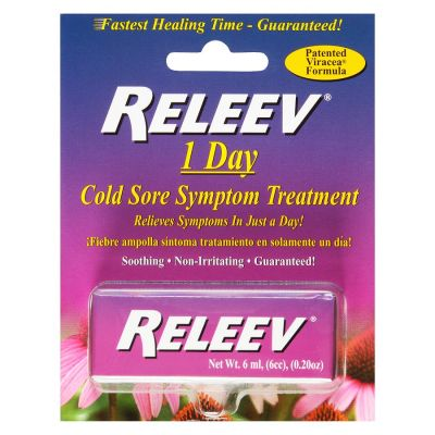 Releev™ 1 Day Cold Sore Treatment RRP - £21.95