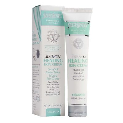 Silver Biotics™ Advanced Healing Skin Cream Unscented 1.2oz - RRP £6.95