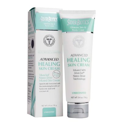 Silver Biotics™ Advanced Healing Skin Cream Unscented 3.4oz - RRP £13.95