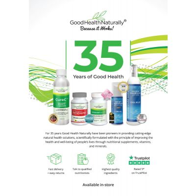 Good Health Naturally Brand - 35 Years A4 poster