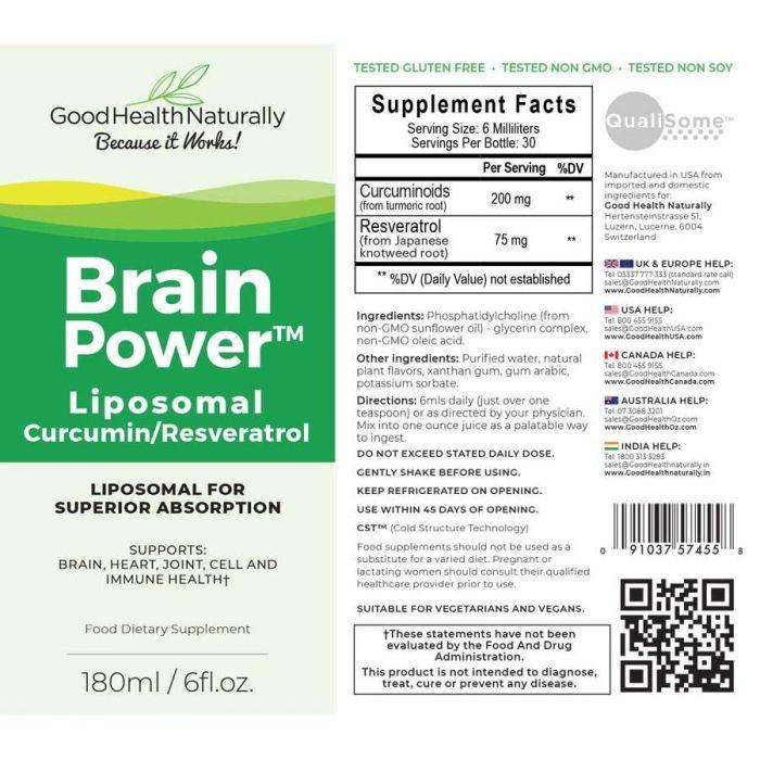 Brainpower™ Liposomal Curcumin+ - RRP £29.95